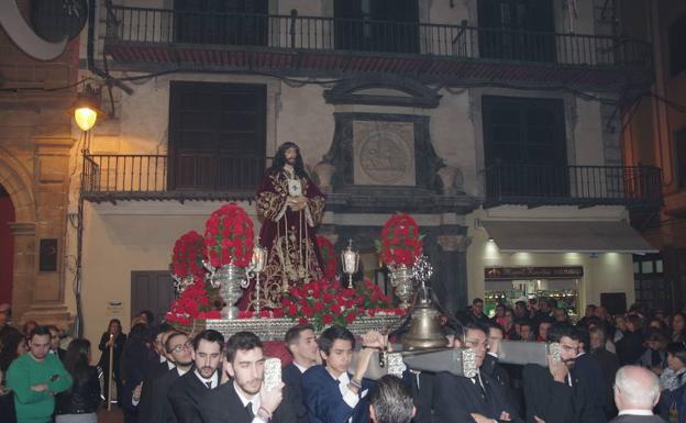 Traslado del Cristo de Medinaceli en enero de 2016.