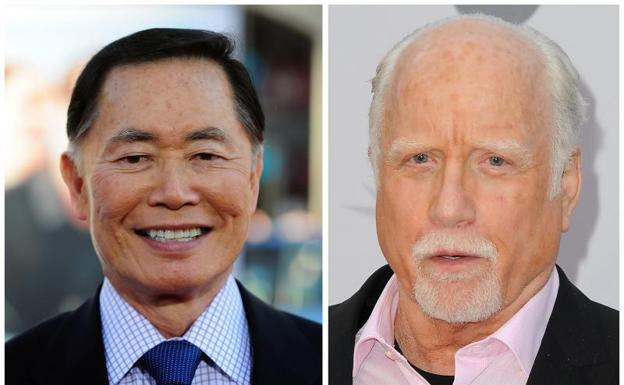 George Takei y Richard Dreyfuss.