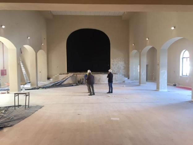 Aspecto del teatro durante las obras, que volverá a ser utilizado tras 19 años en desuso. :: sur/
