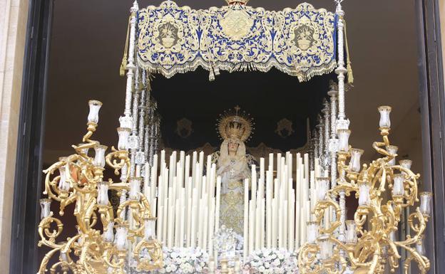 Virgen de la Concepción, en su trono. /Hugo Cortés