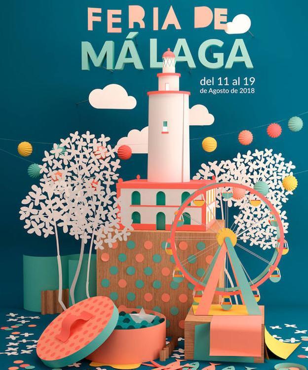 El cartel que anunciará la Feria de Málaga 2018./