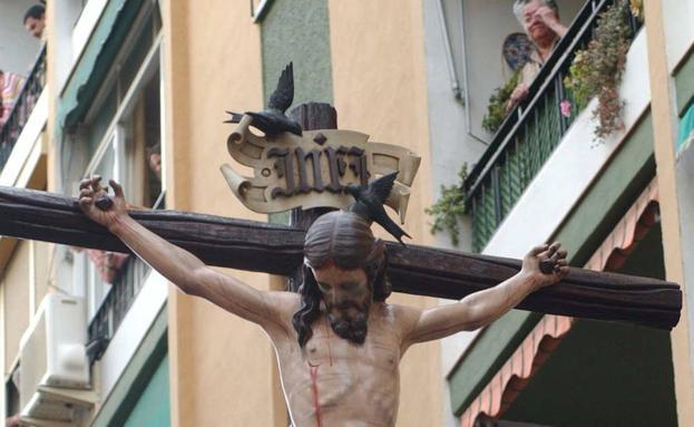 El Cristo delAmor de Málaga estará en la muestra.