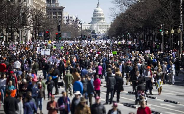 Manifestantes en Washington.