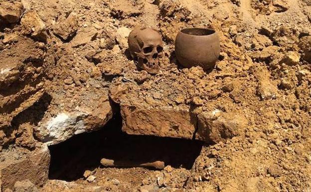 Casualidad. El hallazgo se produjo tras un movimiento de tierras para plantar aguacates en una finca de olivos.