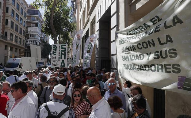 Concentración de protesta de los médicos./