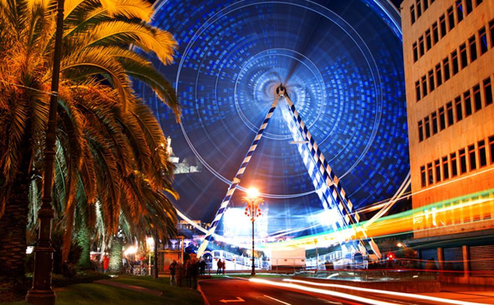 3ed2d1b0b24 Una gran noria de 50 metros da la bienvenida a la Navidad en San Sebastián