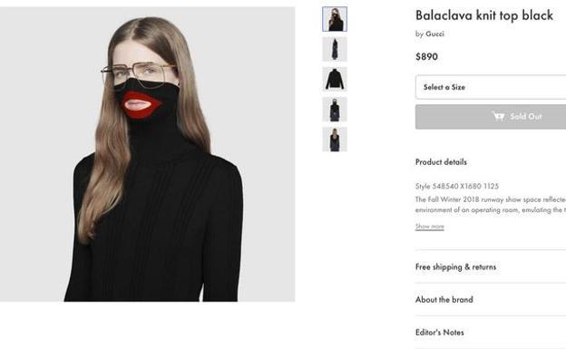 fd5f512ebaee2 Las acusaciones de racismo obligan a Gucci a retirar un suéter ...