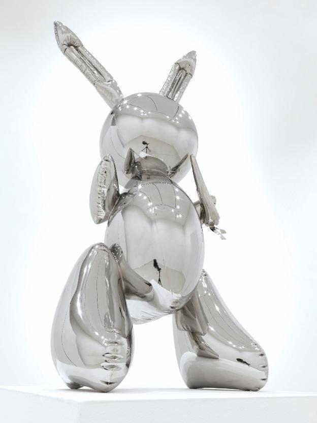 62c761299680 'Rabbit', pieza de acero creada porJeff Koons en 1986, la más cara. '