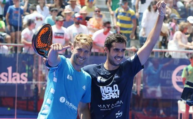 Ruiz y Piñeiro, en Valladolid. /WORLD PADEL TOUR