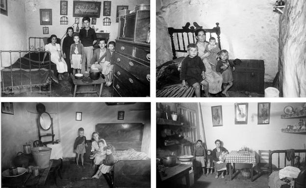 1949. La revista Índice, bajo el titular 'Hacinamientos increíbles, terrible promiscuidad de las familias', presenta una serie fotográfica señalando en distintos puntos de la ciudad hogares familiares de una sola habitación.