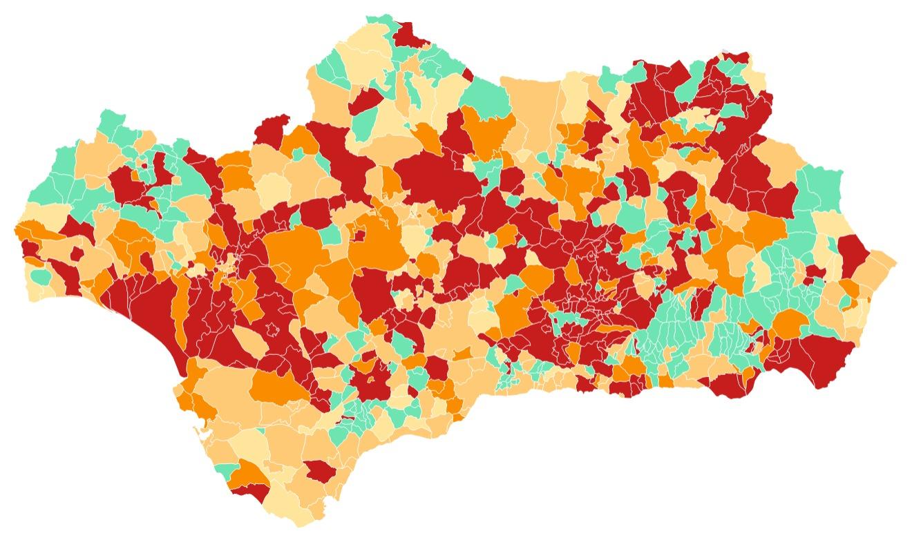 Consulta los municipios de Andalucía amenazados con cierre del perímetro a partir de este viernes 23 de abril
