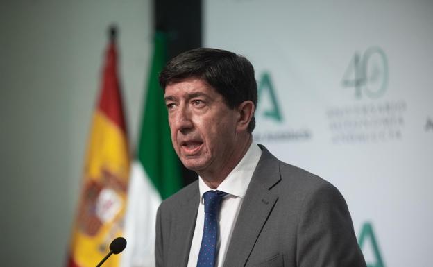 El vicepresidente del consejo, Juan Marín.  /Sur