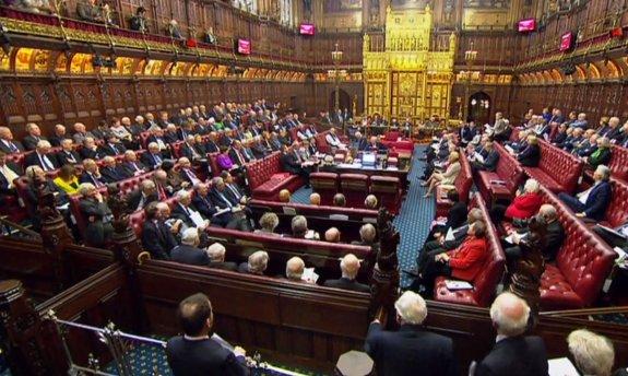 Resultado de imagen para Fotos de la sesión última de la Cámara alta de los Lores