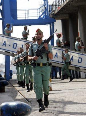 Un Desembarco De La Legión Con Marejada Diario Sur